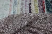 1815454 Сетка с вышивкой и паетками D#051