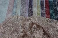 1815455 Сетка с вышивкой и паетками D#052