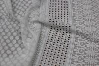 191001 Хлопок вышивка двухсторонний купон D#47491 Белый