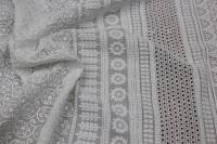 191001 Хлопок вышивка двухсторонний купон D#47490 Белый